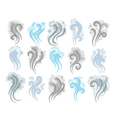 smoke clouds doodle icons vector image