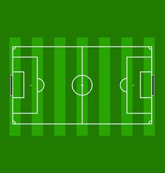 Soccer field in green grass stadium background vector