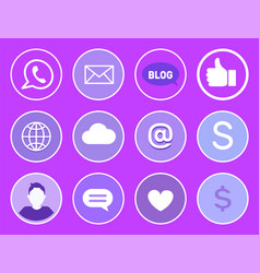 social network mobile phone vector image