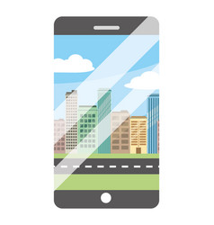 technology smartphone cartoon vector image