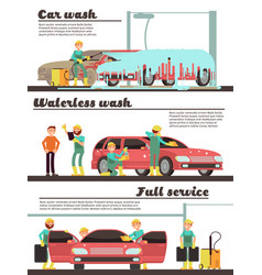 vehicle cleaning service and car washing marketing vector image