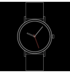 Wristwatch EPS8 vector image
