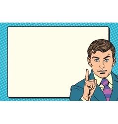 businessman promo poster pop art retro vector image vector image