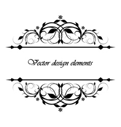 calligraphic patterns vector image vector image