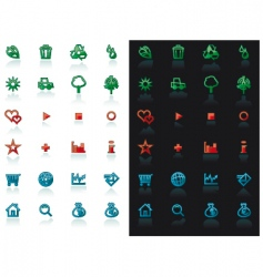 icon set for web design vector image vector image