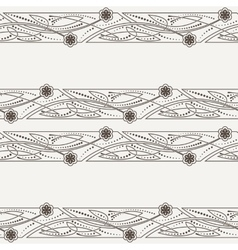 seamless pattern of ornaments in Celtic vector image