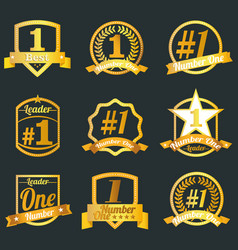 badges certificates and seal icons number o vector image vector image