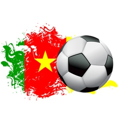 Cameroon Soccer Grunge vector image vector image