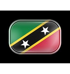 Flag of Saint Kitts and Nevis Rectangular Shape vector image vector image