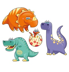 Group of funny dinosaurs vector image vector image