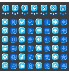 Ice game and levels buttons vector image