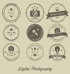 Photography vintage creative logo concept vector