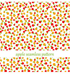 seamless pattern with apples vector image vector image