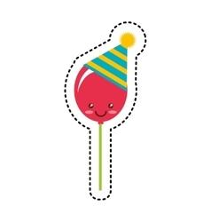 sweet lollipop kawaii isolated icon vector image