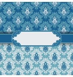 Vintage greeting card frame background vector image vector image