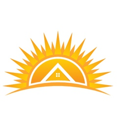 House on Sunset Logo vector image