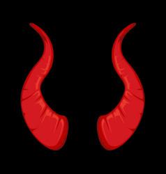 red Devil horns vector image