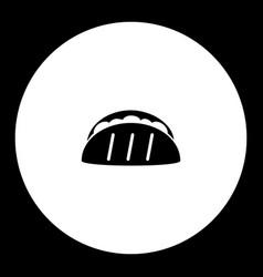 tortilla mexico fast food simple black icon eps10 vector image vector image
