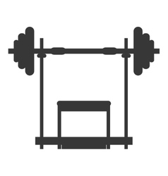 barbell and bench icon vector image