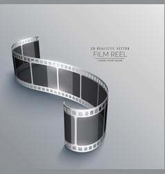 Film strip background design vector