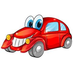 happy car cartoon vector image