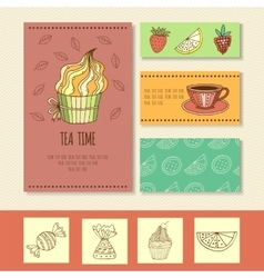 Invitation card for mad tea party or cute funny vector