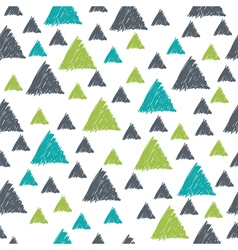 Seamless pattern with hand drawn green and grey vector image