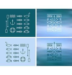 Vintage Logo Insignia Kit on blurred background vector image vector image