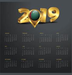 2019 calendar template turkmenistan country map vector