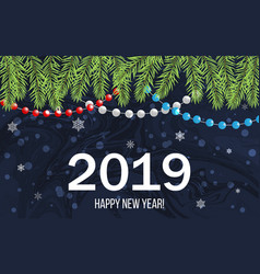2019 happy new year holiday greeting card vector image