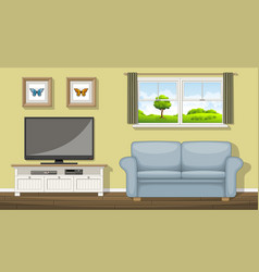 a classic living room vector image