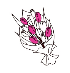 A view of bouquet vector image