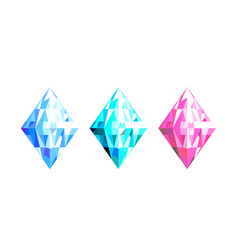 Abstract crystal colorful design geometric vector