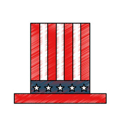 american hat isolated icon vector image