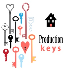background of different keys vector image