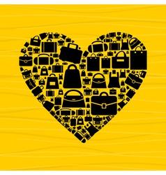 Bag heart vector