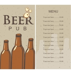 beer menu and price vector image