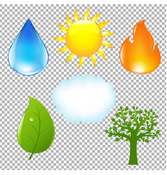 big nature eco set vector image