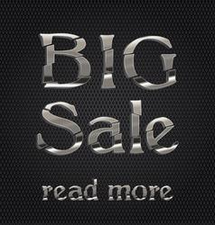 big sale silver icon vector image