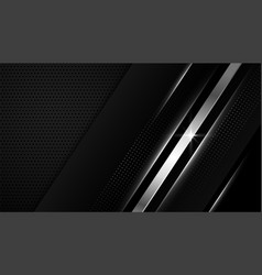 Black wallpaper with silver geometric lines vector