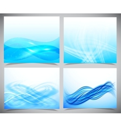 Blue and white modern futuristic backgrounds vector image