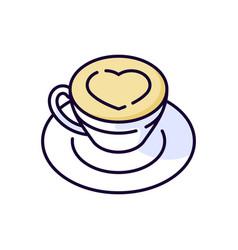 Cappuccino rgb color icon vector