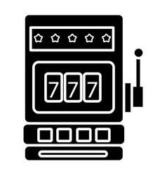 casino slot machine icon vector image