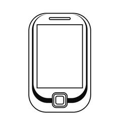 cellphone mobile technology line vector image