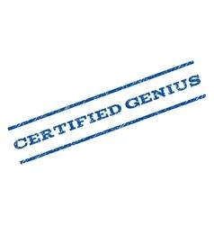 Certified Genius Watermark Stamp vector image