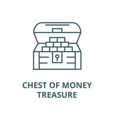 chest moneytreasure line icon chest vector image