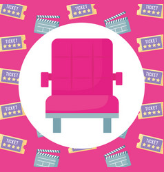 cinema chair design vector image