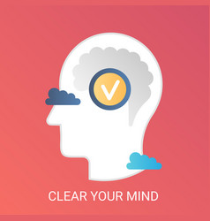 clear your mind concept modern gradient vector image