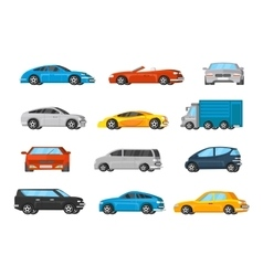 Colorful Vehicles Collection vector image