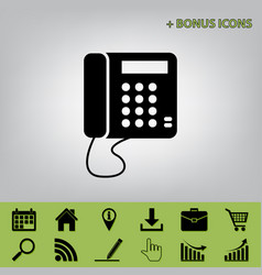 communication or phone sign black icon at vector image